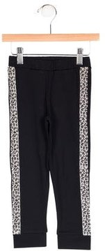 Junior Gaultier Girls' Leopard Print-Trimmed Joggers w/ Tags