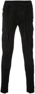 Julius lattice front track pants