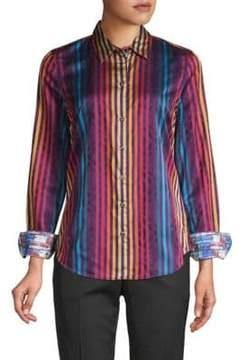 Robert Graham Stripe Cotton Button-Down Shirt