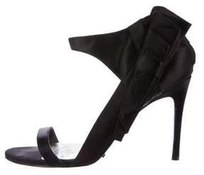 Karen Millen Bow-Accented Satin Sandals