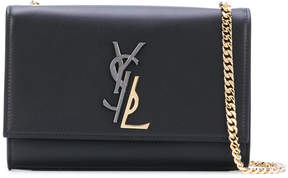 Saint Laurent medium Kate Monogram satchel bag - BLACK - STYLE
