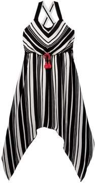 My Michelle mymichelle Striped Sharkbite Dress (Big Girls)