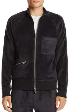 ATM Anthony Thomas Melillo Velour Zip Bomber Jacket