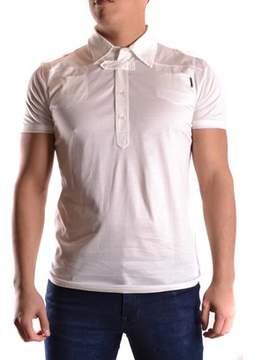 CNC Costume National Men's White Cotton Polo Shirt.