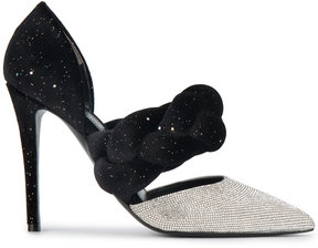 Marco De Vincenzo Crystal embellished pumps with braided strap