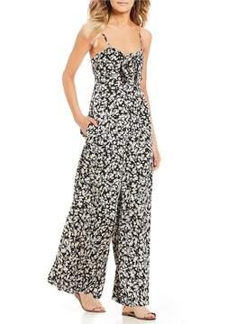 Billabong Twist N Shout Floral Printed Tie Front Jumpsuit