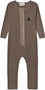 Bobo Choses Brown Octopus Embroidered Jumpsuit