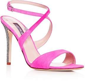 Sarah Jessica Parker Women's Elektra Suede Crisscross High Heel Sandals