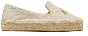 Sole Society Rainbow Platform Smoking Slipper Espadrille Smoking Slipper