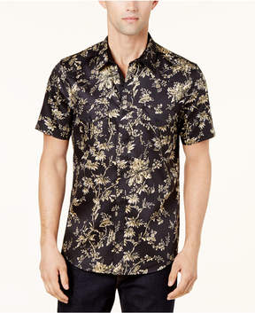 GUESS Men's Knights Floral-Print Stretch Shirt