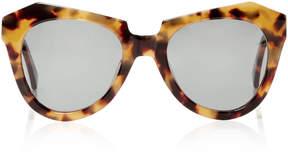 Karen Walker Number One Round-Frame Tortoiseshell Acetate Sunglasses
