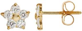 Swarovski Charming Girl 14k Gold Star Stud Earrings - Made with Cubic Zirconia - Kids