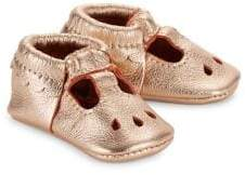 Freshly Picked Baby's Rose Gold Mary Jane Leather Shoes