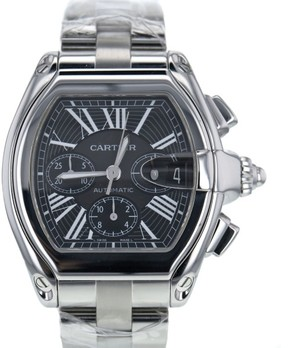 Cartier Roadster W62020X6 Stainless Steel Black Dial Automatic 48mm Mens Watch 2016