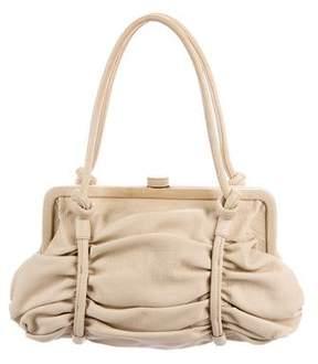 Bottega Veneta Pleated Leather Frame Bag