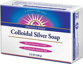 Colloidal Silver Soap by Heritage Products (3.5oz Bar)