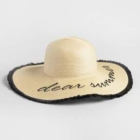 World Market Dear Summer Sun Hat
