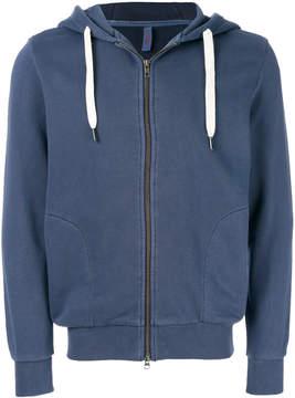 Sun 68 zipped hooded jacket