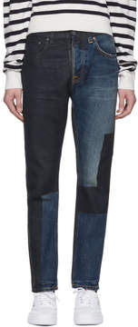 Nudie Jeans SSENSE Exclusive Blue Painted Fearless Freddie Jeans