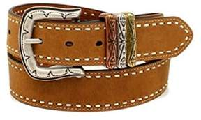 Ariat A1522802-L 1.5 in. Womens Laced Edge 3 Keepers Leather Belt, Brown - Large