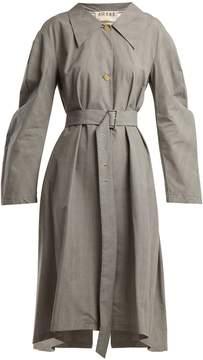 Awake Glen checked asymmetric coat