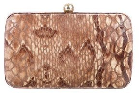 Tory Burch Embossed Box Clutch - BROWN - STYLE