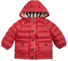 Burberry Boys' Hooded Down Puffer Jacket - Baby