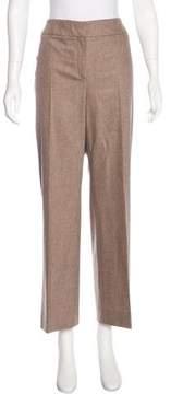 Agnona Wool-Blend Mid-Rise Pants