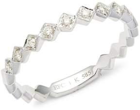 Ef Collection Women's Diamond & 14K White Gold Ring