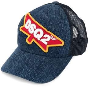 DSQUARED2 DSQ2 patch denim baseball cap