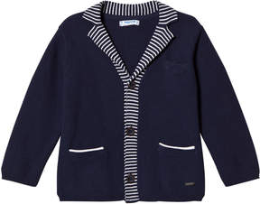 Mayoral Navy with Stripe Trim Knit Cardigan