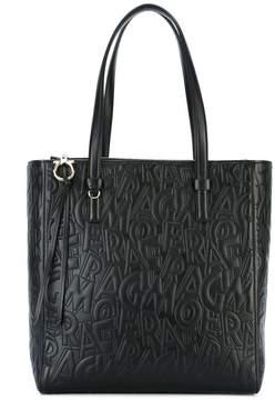 Salvatore Ferragamo lettering shopping tote bag
