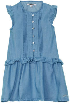 DKNY Girls' Pintuck Dress