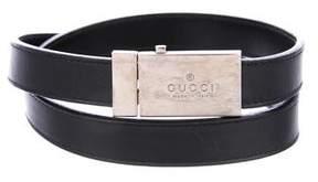 Gucci Leather Push-Lock Belt