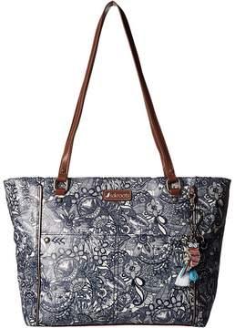 Sakroots Artist Circle Medium Satchel Tote Handbags