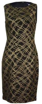 Tommy Hilfiger Women's Metallic-Print Sheath Dress