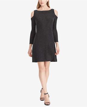 American Living Velvet Cutout-Shoulder Dress