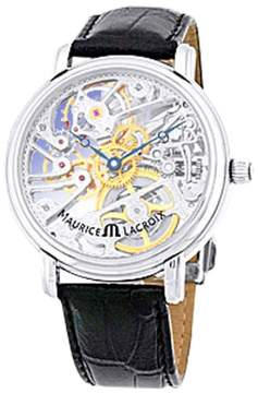 Maurice Lacroix Masterpiece Skeleton Stainless Steel Strap Mens Watch