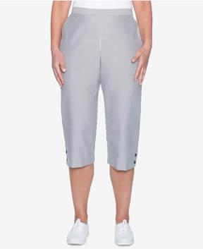 Alfred Dunner Striped Seersucker Capri Pants