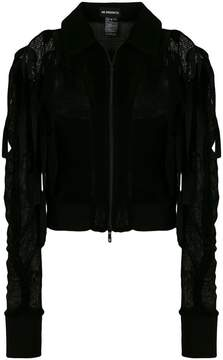 Ann Demeulemeester exposed shoulder zip jacket