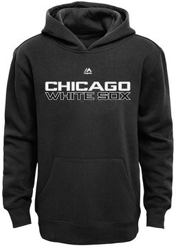 Majestic Chicago White Sox Wordmark Fleece Hoodie, Big Boys (8-20)
