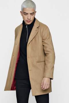 boohoo Wool Mix Overcoat