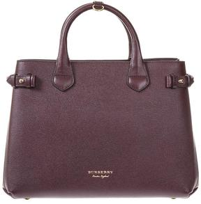 Burberry House Check Leather Bag - BURGUNDY - STYLE