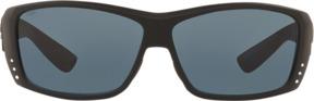 Costa del Mar Polarized Black Rectangle Sunglasses