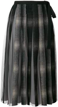 Antonio Marras checked pleated skirt