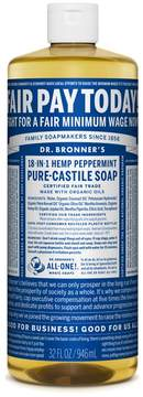 Dr. Bronner's Peppermint Castile Liquid Soap by 32oz Liquid)