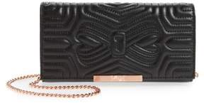 Ted Baker Quilted Bow Leather Matinee Wallet