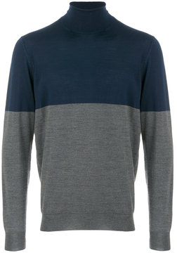 Drumohr bicolour turtleneck sweater
