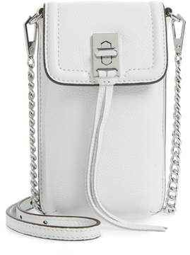 Rebecca Minkoff Darren Leather Phone Crossbody Bag - WHITE - STYLE