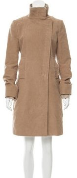 CNC Costume National Textured Fitted Coat